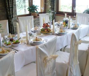 Wesele w Zakopanem Hotel Dwór Karolówka -wedding table
