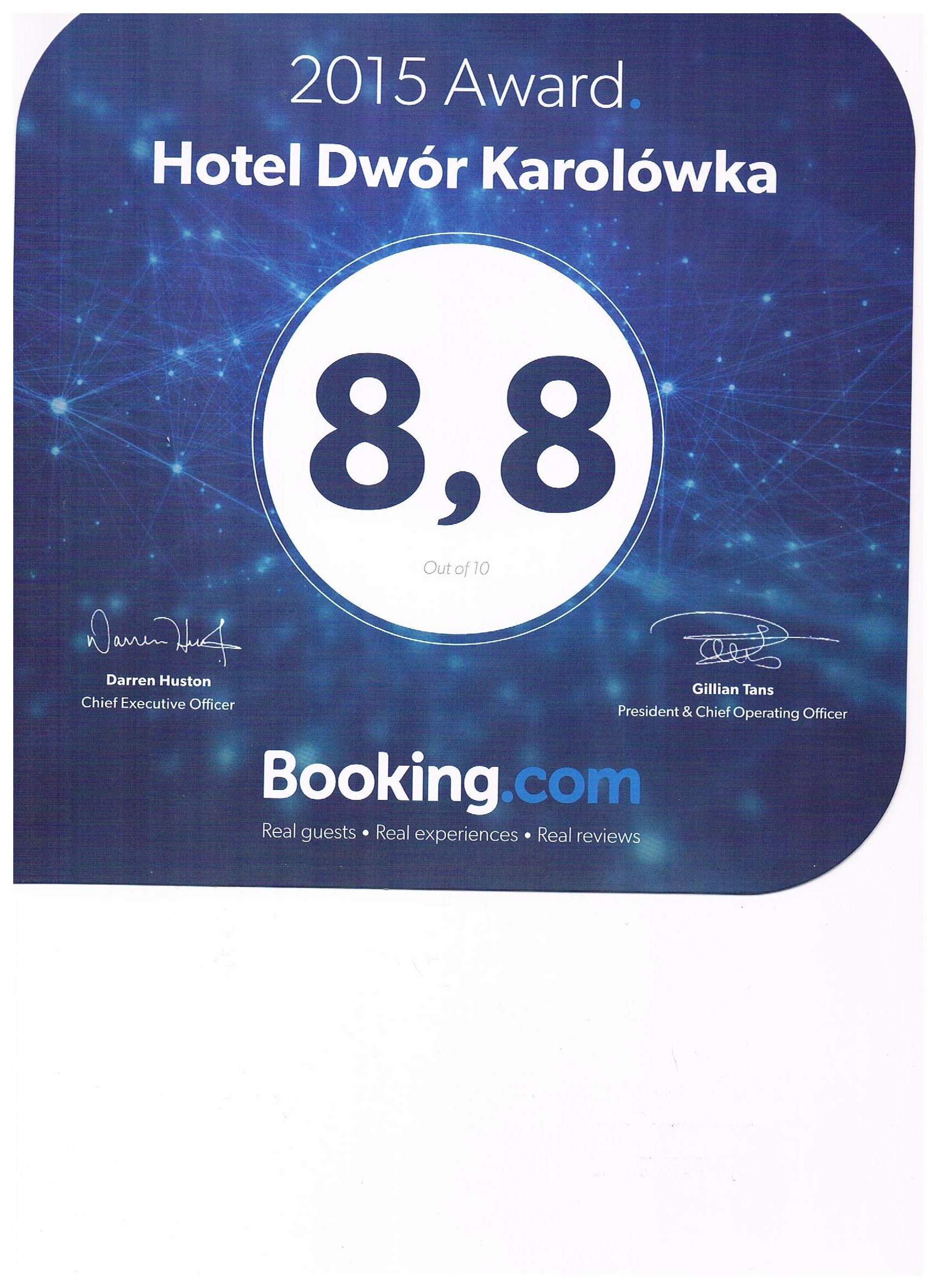 Rekomendacja Booking Karolówka 2015